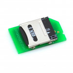 Low-profile MicroSD to SD Card Adapter for Raspberry Pi