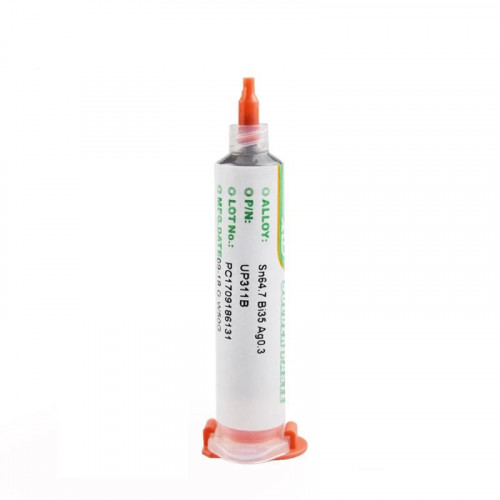 Solder Paste Sn64.7/Bi35 no clean Lead-Free Mid Temperature Melts 172C 341F