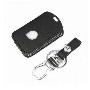 TIAO Volvo XC90 S90 XC60 V90 Car Key Case,Genuine Leather Car Key Holder Bag Cover
