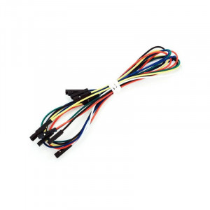 Extra long / short female to female flex bread board cables